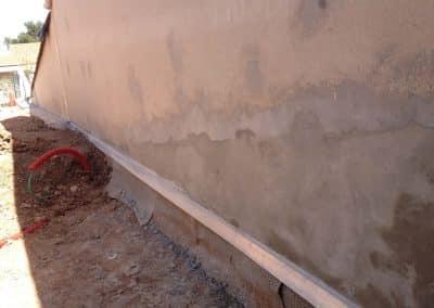 Travaux d'étanchéité d'un mur enterré à Martigues