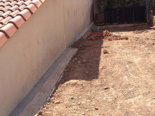 Étanchéité d'un mur enterré à Martigues