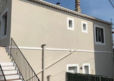 Après les travaux de réhabilitation d'une Façade de copropriété à Martigues