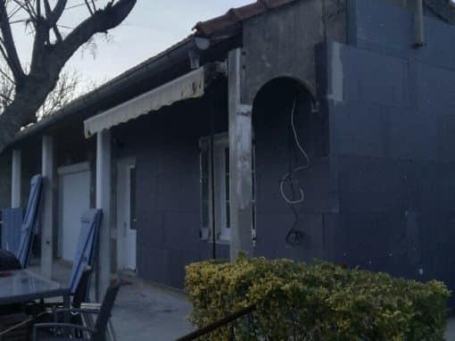 Ravalement façade par ITE – Maison individuelle à Miramas
