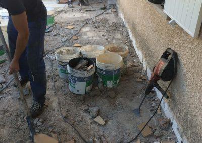 Pendant les travaux de Réfection et étanchéité d'une terrasse à Marseille